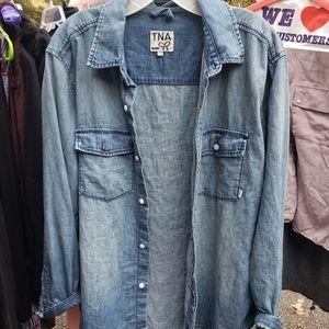 Tna denim shirt (aritzia)